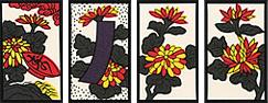 花札の謎シリーズ !9月札『菊に盃』
