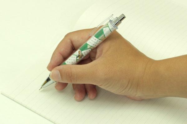 大石天狗堂オリジナルデザイン シャープペンシル 使用例